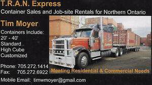 Container Sales and Job-Site Rentals for Northern Ontario