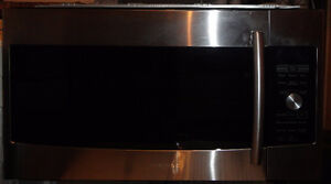 SS Samsung Microwave Hood Range in Excellent Condition