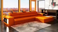 -$300 OFF! Modern Orange Sectional Sofa w/Chaise and Light!