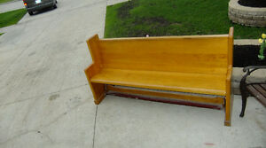 """Church Pew Solid Wood 74""""x 19""""x 37"""" Cottage, Home, Deck, Patio,"""