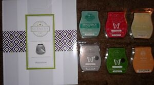 Scentsy - Moonstone warmer and 42 cubes of wax bundle
