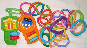Large set of Misc. Baby Hanging Toys and Rings