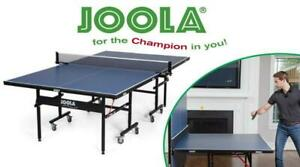 NEW JOOLA Inside Table Tennis Table with Net Set - Features Quick 10-Min Assembly, Playback Mode, Foldable Halves Con...