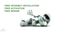 Unlimited internet from 29.95$ | Free installation & free modem