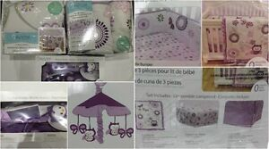 """EUC Baby's First """"VERY BERRY OWL"""" complete crib set - $70"""