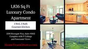 1,836 Luxury Sq Ft Condo Apartment in Ottawa South by the Rideau