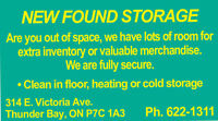 SECURE,HEATED AND COLD STORAGE FOR YOU!! $50.00 SPECIAL