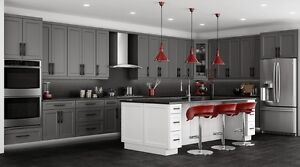 JULY SALE 15% OFF GREY SHAKER CABINETS  *100% ALL WOOD CABINETS*