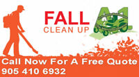 FREE ESTIMATES FOR FALL CLEAN UPS/PRUNING/SNOW REMOVAL CALL NOW!