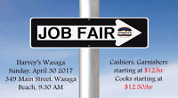 Harvey's Wasaga is Now hiring *Job Fair*