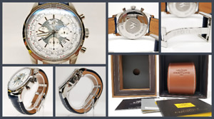 Breitling Transocean Chronograph Unitime AB0510 - White Dial