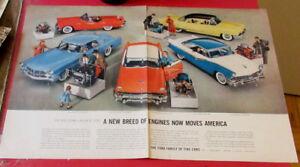 1956 FORD FAIRLANE THUNDERBIRD  MERCURY LINCOLN CONTINENTAL AD