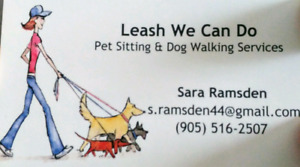 Leash We Can Do - pet sitting and dog walking services