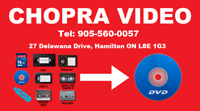 VHS to DVD-Professional Video Conversion Services - Chopra Video