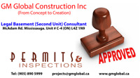Legal Basement Building Permit Brampton/Mississauga