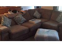 Corner Sofa & Foot Stool