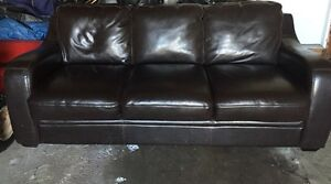 Brown Leather Couch.     $100
