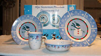 HOLIDAY SNOWMEN DISHES