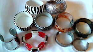 Huge lot of cuffs/ bracelets - jewellery for any occasion, cheap