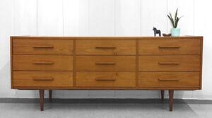 Vintage Teak Mid Century Dresser
