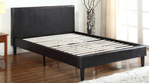 LEATHER BED AND MATTRESS ON SALE FOR $299 BRAND NEW