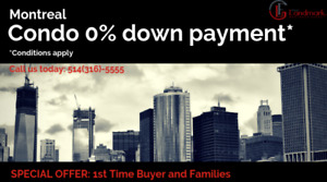 GET YOUR APPARTMENT FOR 0$ DOWN PAYMENT