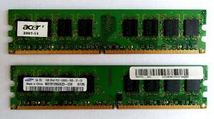 Desktop Laptop DDR DDR2 RAM memory
