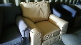 Marks and spencer seconds cream leather chair