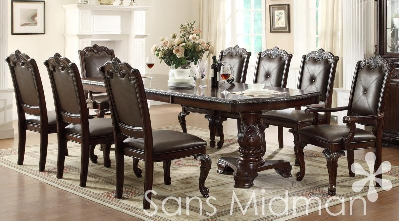 Furniture New! Kira 9 Pc Formal Dining Room Set, Table W/2 Leaves And 8 Chairs