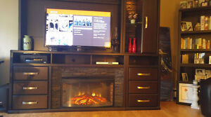 Entertainment Center with Fireplace/ Electric Heater