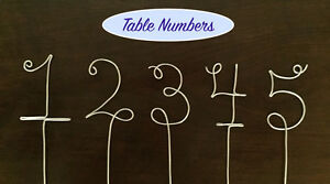 Personalized Wire Hangers, Cake Topper & Table Numbers - WEDDING Kingston Kingston Area image 4