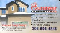 Munawar stucco Ltd regina sk