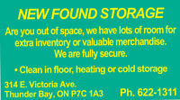 SECURE,HEATED AND COLD STORAGE FOR YOU!! $$$50.00 summer SPECIAL