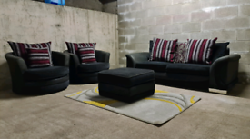 FREE DELIVERY 🚚 Stunning Dfs Couch and x2 Swivel / Cuddle Chairs, Sea