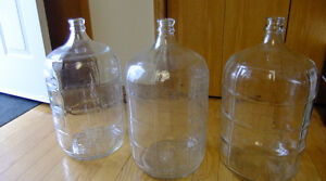 Wine 5 Gallon Glass Carboy $20.00 Each  Three available