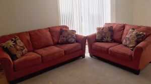 Ashley Gale loveseat and sofa
