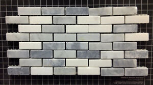 Marble Backsplash Mugwort Grey Bianco Carrara Thassos Mix