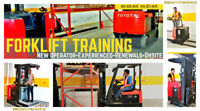 Forklift Training up 30% off - New / Experienced / Renewals