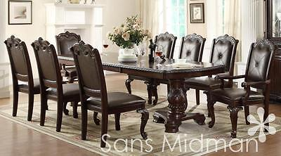 Furniture NEW! Kira 11 pc Formal Dining Room Set, Table w/2