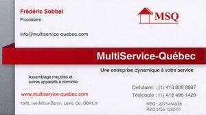 Assemblage à domicile de vos bureaux et autres produits Québec City Québec image 1