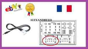 cable auxiliaire adaptateur mp3 pour autoradio peugeot citroen psa rd4 12pin. Black Bedroom Furniture Sets. Home Design Ideas