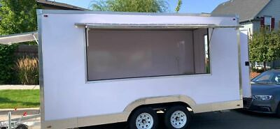 Brand New 2020 - 7 X 14 Empty Street Food Concession Trailer For Sale In Color