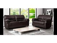 🌺 🌸BRAND NEW GREY LEATHER SOFA'S 3+2 SEATER SOFA SET IN BLACK COLOR WITH NATIONWIDE DELIVERY🌺 🌸