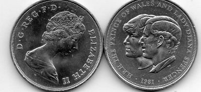 1981 Commemorative Coin Prince Charles & Lady Diana's Wedding
