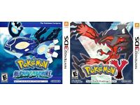 Pokemon Alpha Sapphire & Pokemon Y Nintendo 3ds Games (Available separately)