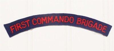 British Army Shoulder Title - FIRST COMMANDO BRIGADE - on felt