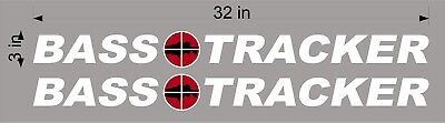 """BASS Tracker Retro Logos / PAIR / 32"""" Vinyl Vehicle Boat Decal Graphic Stickers"""