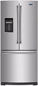 Réfrigérateur à portes françaises 30 po, Maytag, stainless