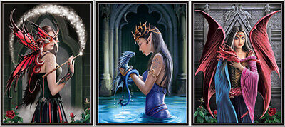 3D Poster Gothic Fantasy Fairies -3 different Lenticular -12x16 Animated Print