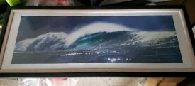 Waves photo in frame